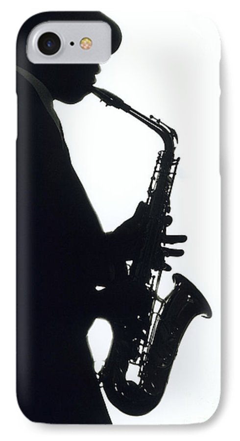 Sax IPhone 7 Case featuring the photograph Sax 2 by Tony Cordoza