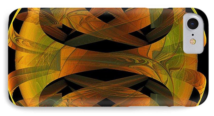 Digital Art IPhone 7 Case featuring the digital art Scarab by Amanda Moore