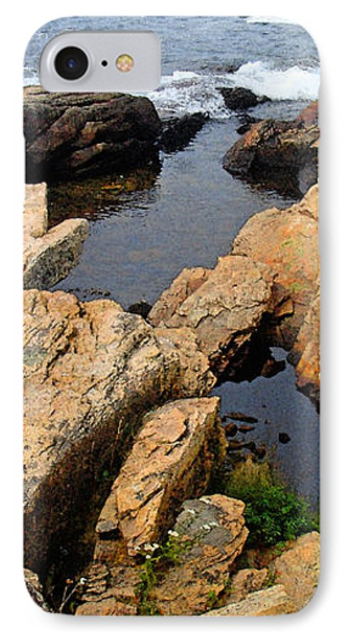 Landscape IPhone 7 Case featuring the photograph Scoodic Tidepool by Peter Muzyka