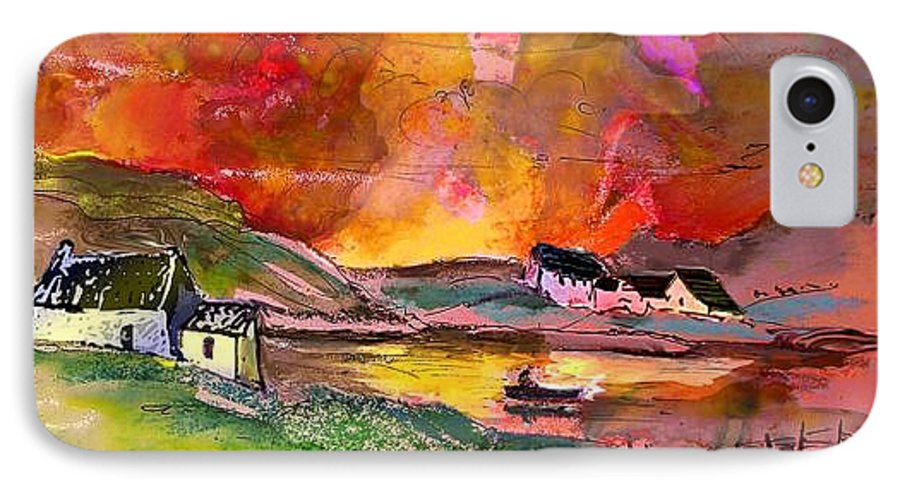 Scotland Paintings IPhone 7 Case featuring the painting Scotland 07 by Miki De Goodaboom