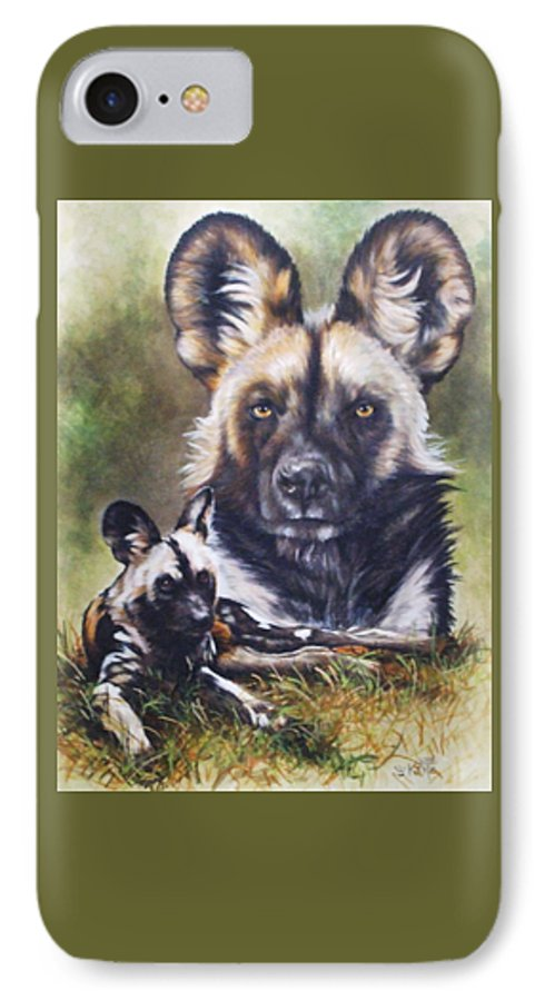 Wild Dogs IPhone 7 Case featuring the mixed media Scoundrel by Barbara Keith