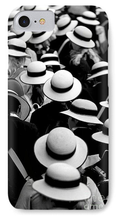 Hats Schoolgirls IPhone 7 Case featuring the photograph Sea Of Hats by Sheila Smart Fine Art Photography