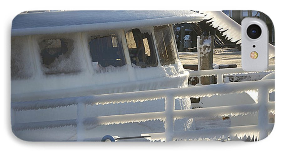 Fishing IPhone 7 Case featuring the photograph Sea Spray Ice by Faith Harron Boudreau