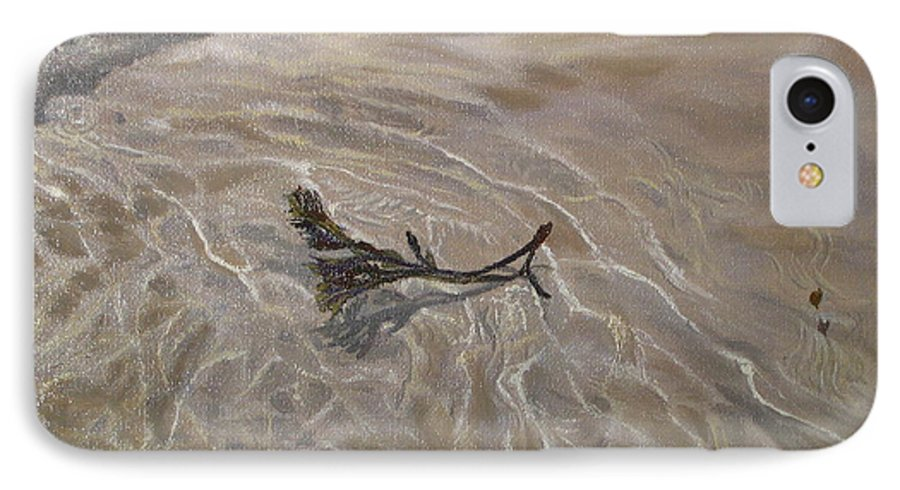 Seascape IPhone 7 Case featuring the painting Seashore Reflections by Lea Novak