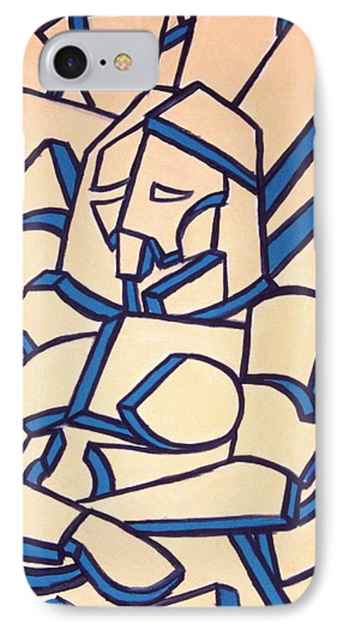 Girl IPhone 7 Case featuring the painting Seated Women by Thomas Valentine