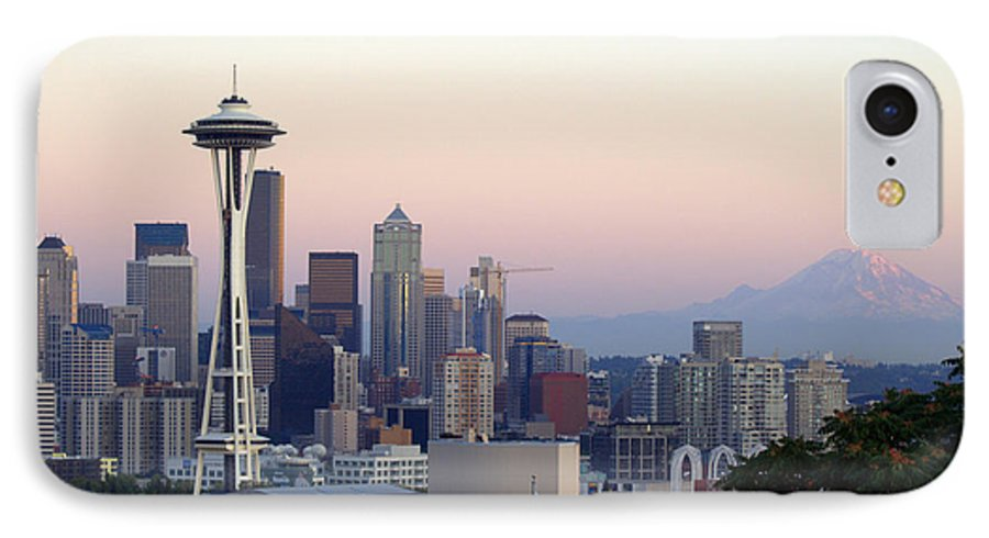Mountain IPhone 7 Case featuring the photograph Seattle by Larry Keahey