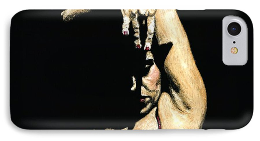 Flamenco IPhone 7 Case featuring the painting Seclusion Del Flamenco by Richard Young