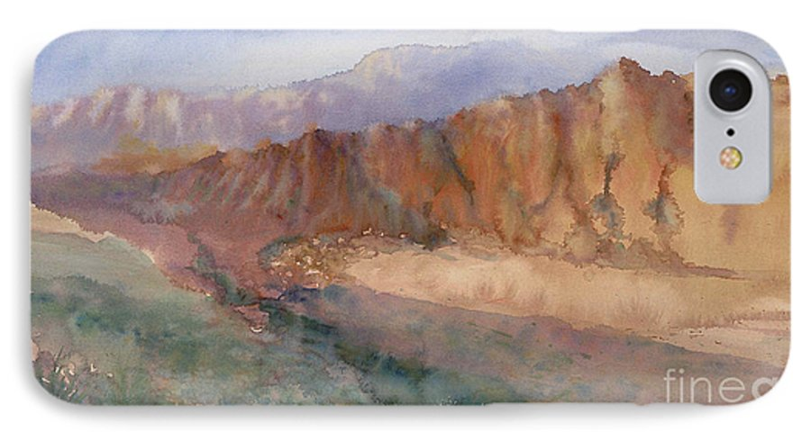 Sedopn IPhone 7 Case featuring the painting Sedona by Ann Cockerill