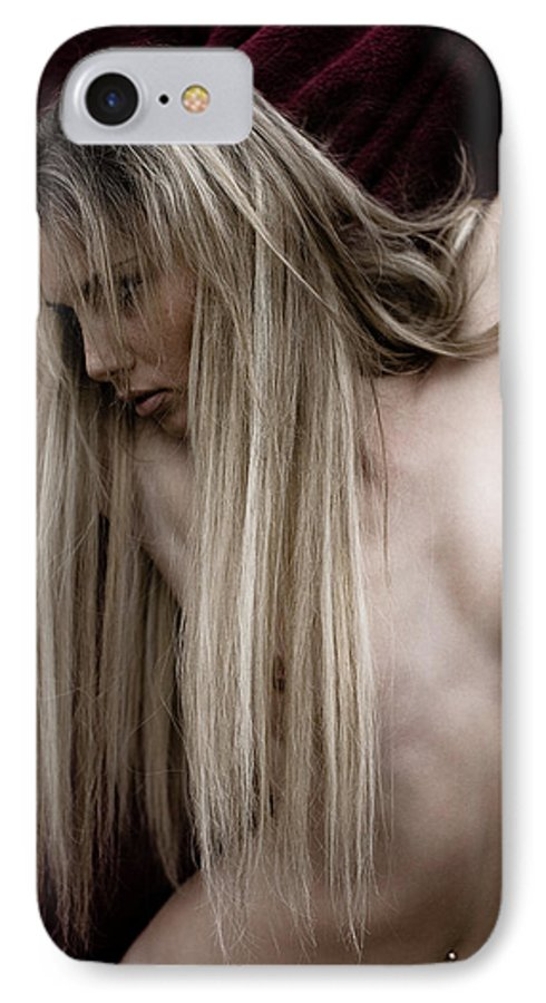 Sensual IPhone 7 Case featuring the photograph See Me by Olivier De Rycke