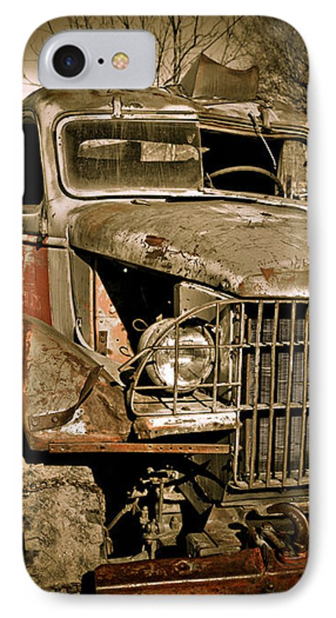 Old Vintage Antique Truck Worn Western IPhone 7 Case featuring the photograph Seen Better Days by Marilyn Hunt