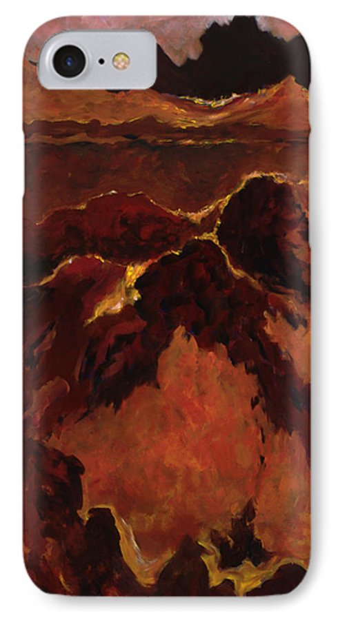 Abstract IPhone 7 Case featuring the painting Seismic Shift by Tara Moorman
