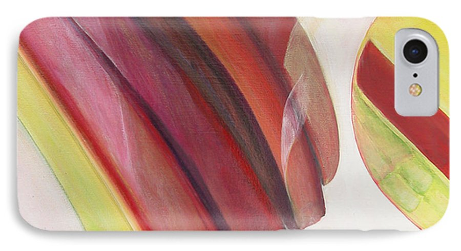 Abstract IPhone 7 Case featuring the painting Sens 3 by Muriel Dolemieux