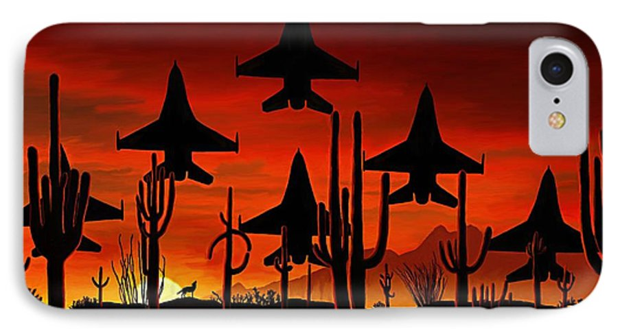 Fine Art IPhone 7 Case featuring the painting Sentinels by David Wagner