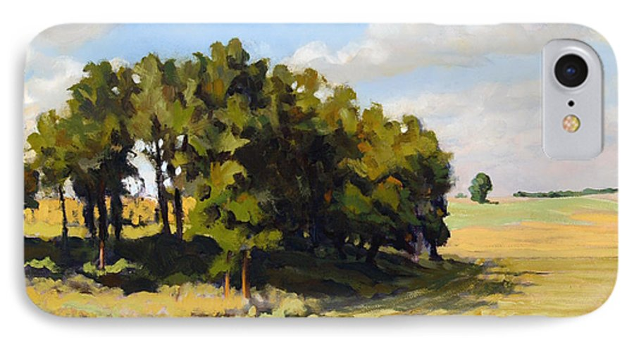 Landscape IPhone 7 Case featuring the painting September Summer by Bruce Morrison