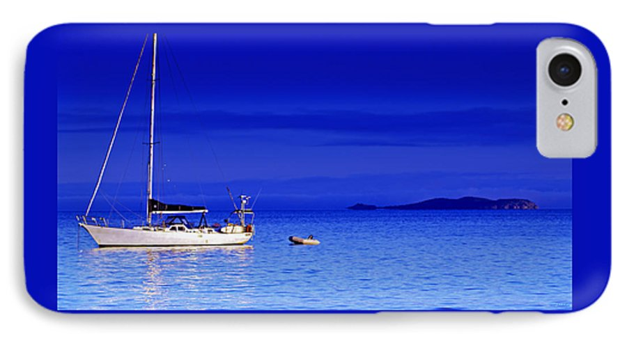 Transportation. Boats IPhone 7 Case featuring the photograph Serene Seas by Holly Kempe