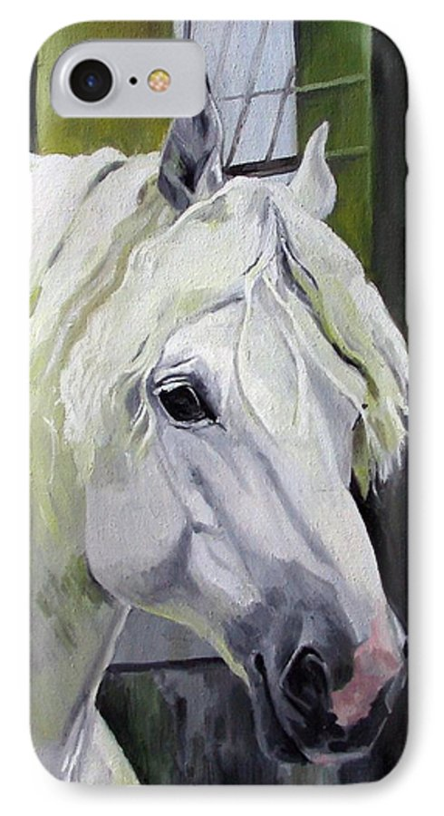 Horse IPhone 7 Case featuring the painting Shadowfax by Nel Kwiatkowska