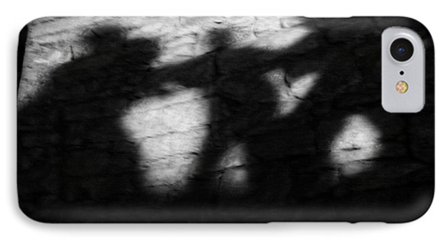 Wall IPhone 7 Case featuring the photograph Shadows On The Wall Of Edinburgh Castle by Christine Till