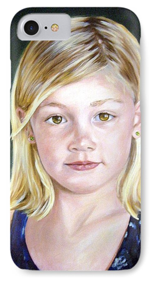 Portrait IPhone 7 Case featuring the painting Shannon by Anne Kushnick