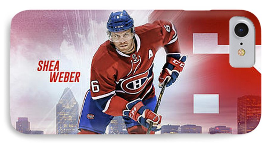 Montreal IPhone 7 Case featuring the digital art Shea Weber by Nicholas Legault