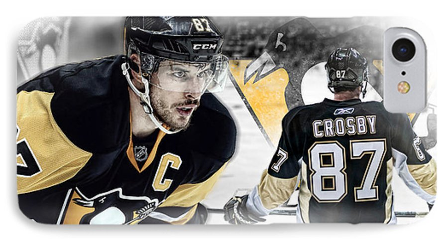 Sidney Crosby IPhone 7 Case featuring the digital art Sidney Crosby Artwork by Nicholas Legault
