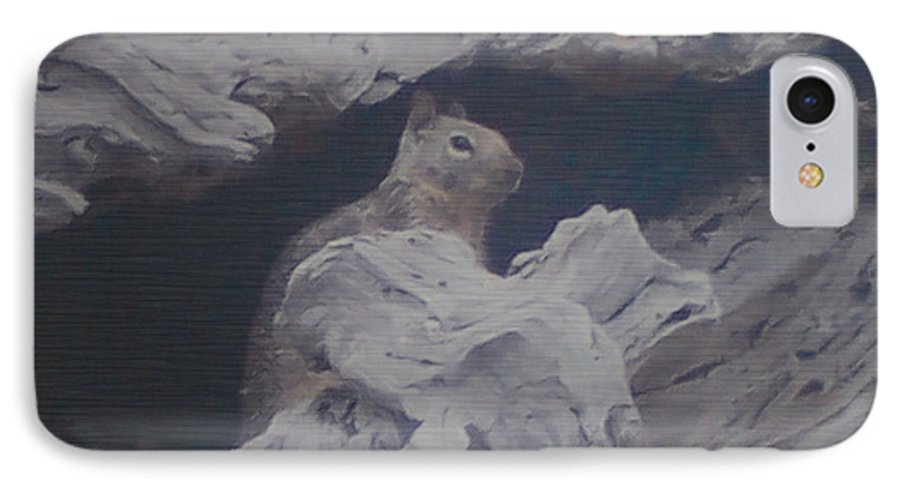 Squirrel IPhone 7 Case featuring the photograph Silent Observer by Pharris Art