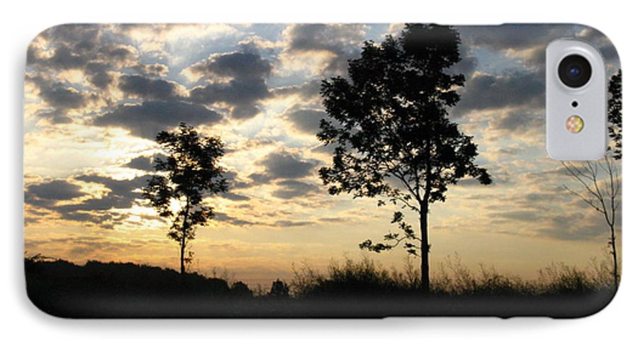 Landscape IPhone 7 Case featuring the photograph Silhouette by Rhonda Barrett