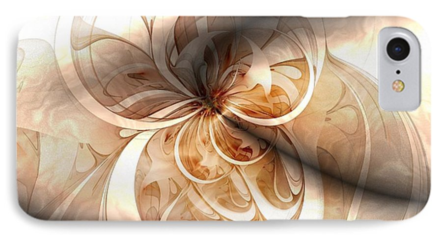 Digital Art IPhone 7 Case featuring the digital art Silk by Amanda Moore