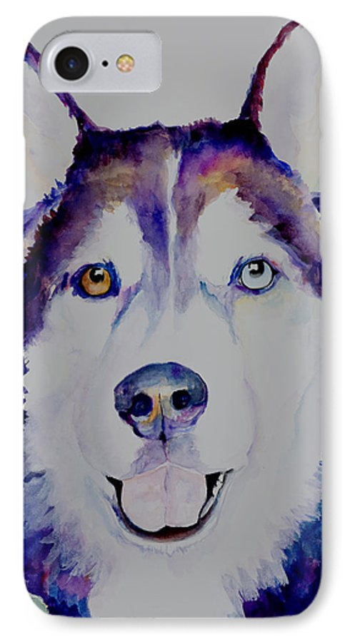 Siberian Husky IPhone 7 Case featuring the painting Simba by Pat Saunders-White