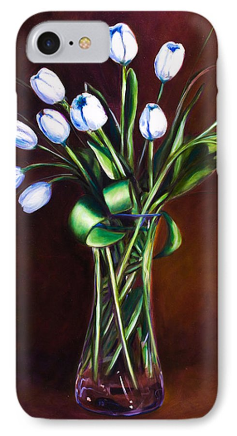 Shannon Grissom IPhone 7 Case featuring the painting Simply Tulips by Shannon Grissom