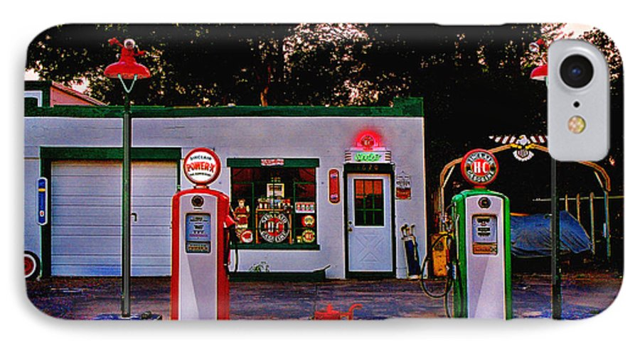 Gas Station IPhone 7 Case featuring the photograph Sinclair by Steve Karol