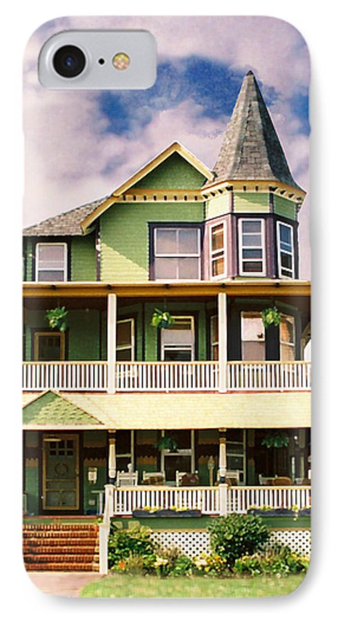 Archtiecture IPhone 7 Case featuring the photograph Sisters Panel 1 Of Triptych by Steve Karol