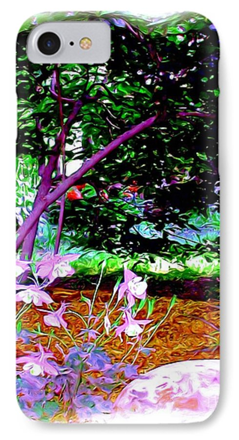 Fine Art IPhone 7 Case featuring the painting Sitting In The Shade by Patricia Griffin Brett