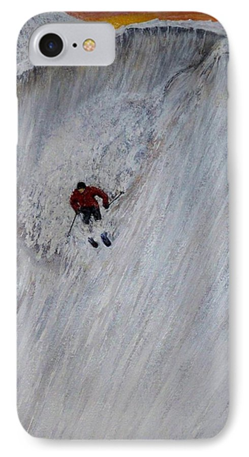 Landscape IPhone 7 Case featuring the painting Skitilthend by Michael Cuozzo