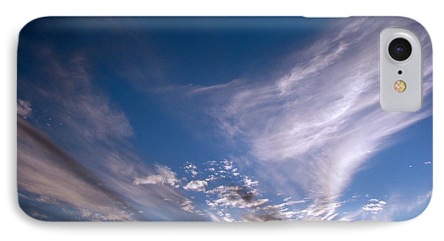 Skies IPhone 7 Case featuring the photograph Sky by Amanda Barcon