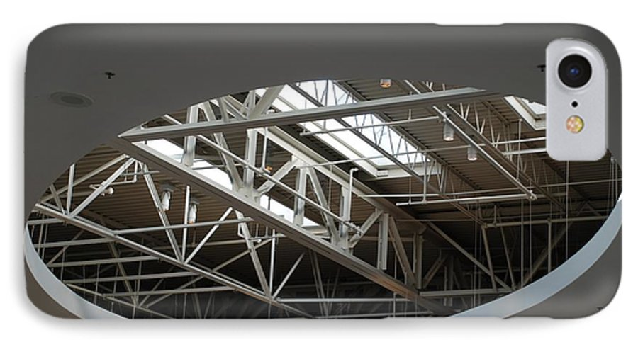 Ceiling IPhone 7 Case featuring the photograph Skylight Gurders by Rob Hans