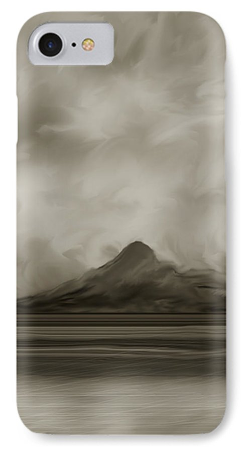 Wyoming IPhone 7 Case featuring the painting Sleeping Giant And Beck Lake by Anne Norskog