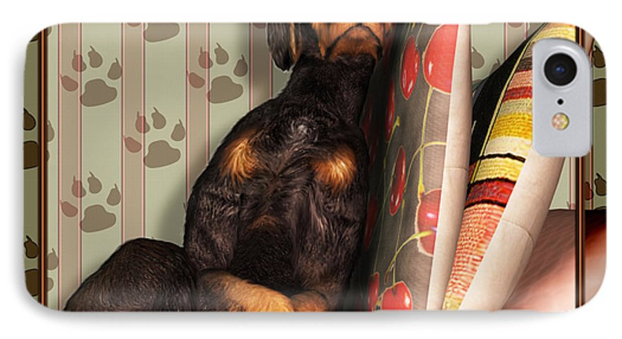 Dog IPhone 7 Case featuring the digital art Sleeping I by Nik Helbig
