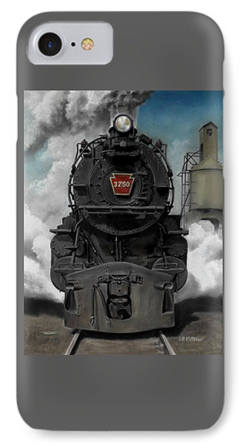 Trains IPhone 7 Case featuring the painting Smoke And Steam by David Mittner