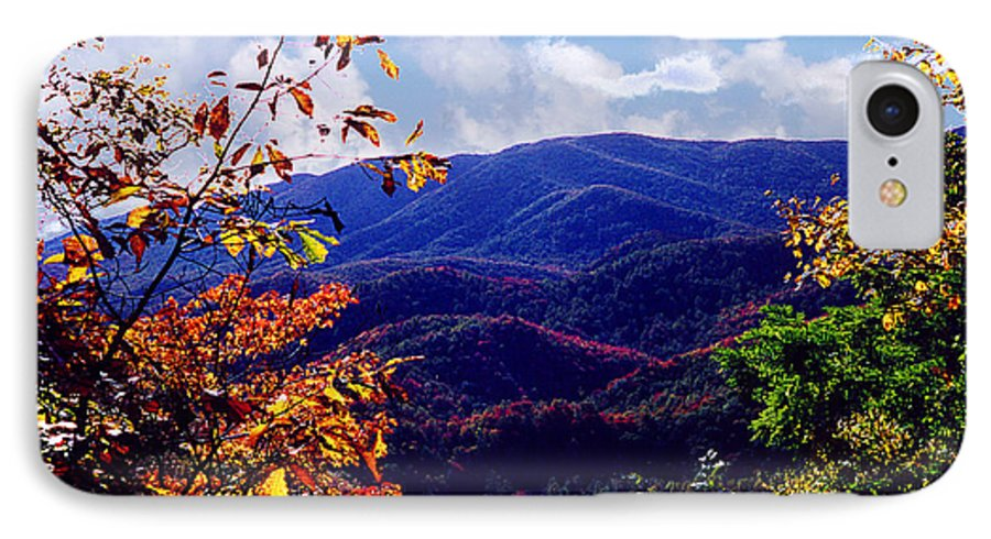 Mountain IPhone 7 Case featuring the photograph Smoky Mountain Autumn View by Nancy Mueller