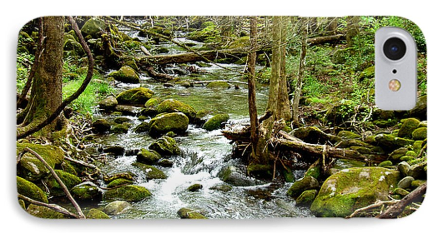 Smoky Mountains IPhone 7 Case featuring the photograph Smoky Mountain Stream 1 by Nancy Mueller