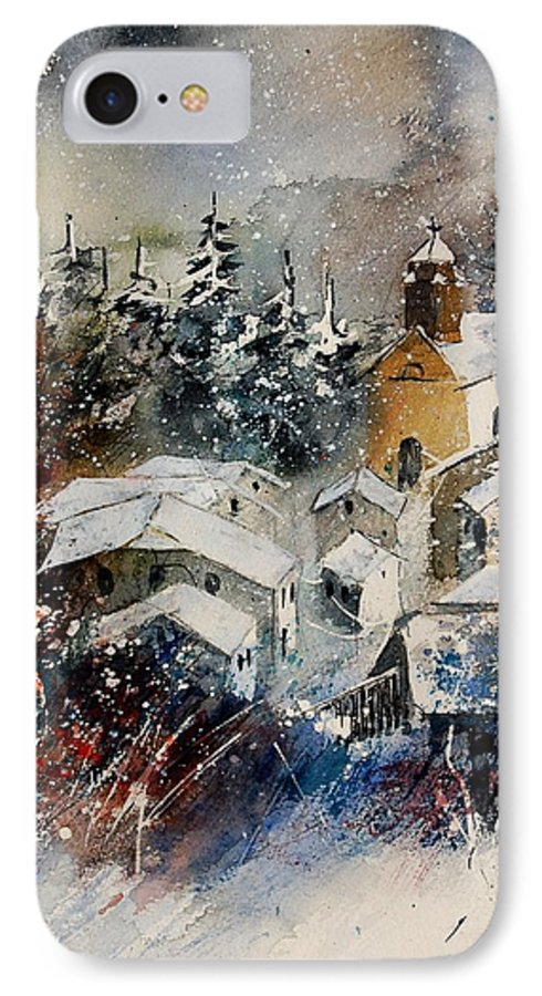 Landscape IPhone 7 Case featuring the painting Snon In Frahan by Pol Ledent