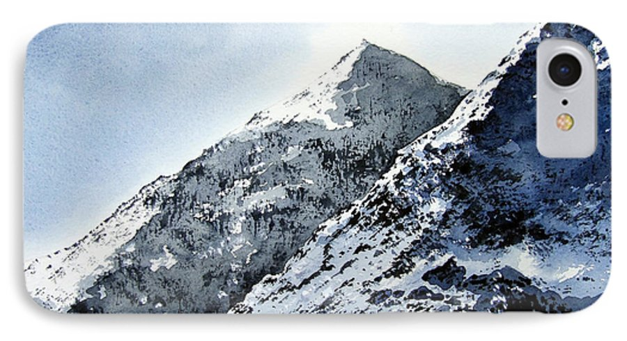 Snowdon IPhone 7 Case featuring the painting Snowdon by Paul Dene Marlor