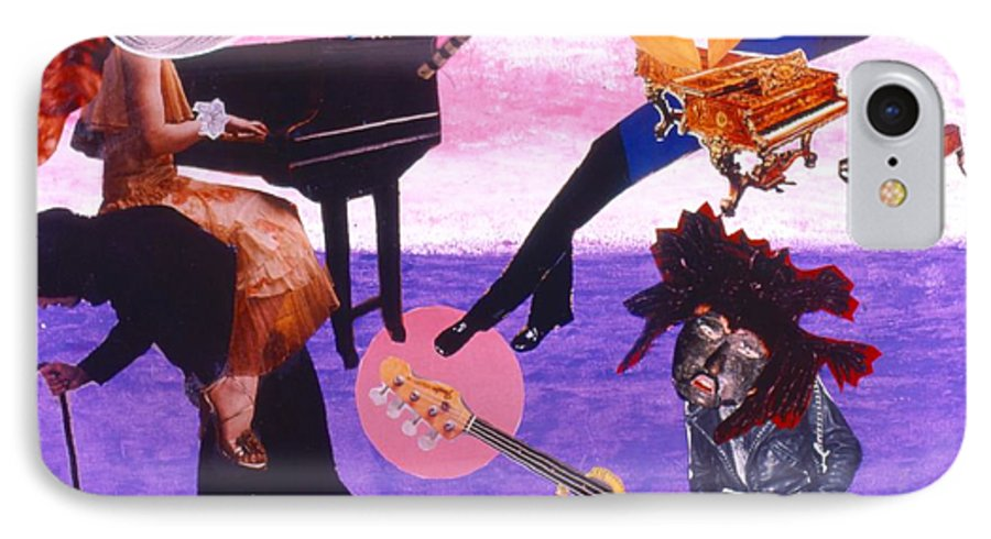 Grand Piano IPhone 7 Case featuring the drawing Soap Scene #21 Beggar Belief by Minaz Jantz