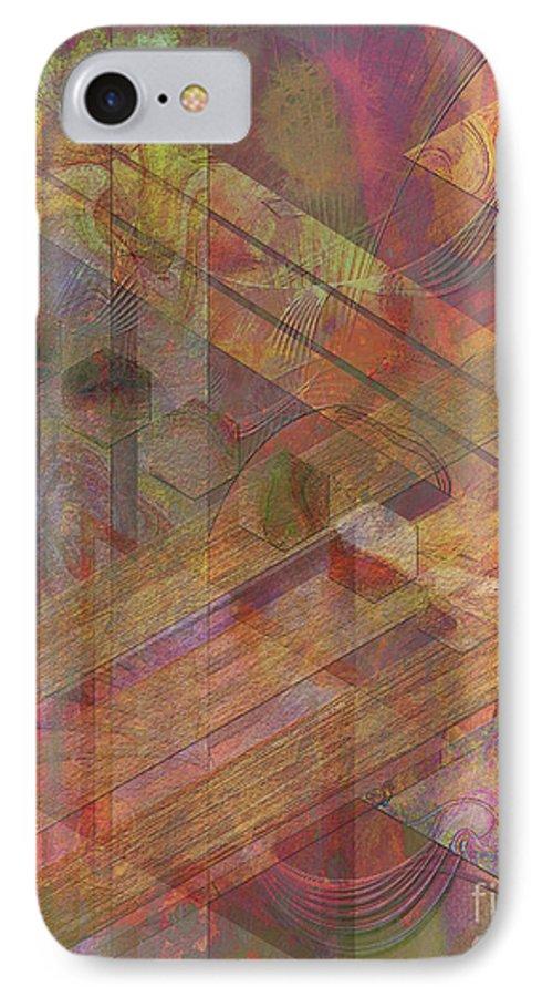 Soft Fantasia IPhone 7 Case featuring the digital art Soft Fantasia by John Beck