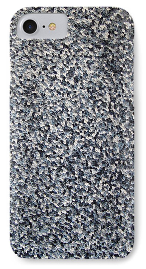 Abstract IPhone 7 Case featuring the painting Soft Grey Scale by Dean Triolo