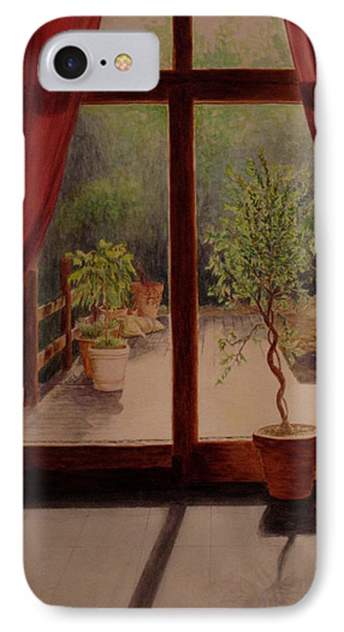 House IPhone 7 Case featuring the painting Solitude by Nik Helbig