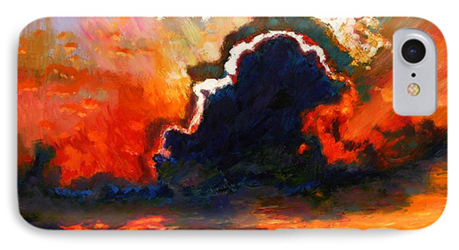 Landscape IPhone 7 Case featuring the painting Some Glad Morning by John Lautermilch