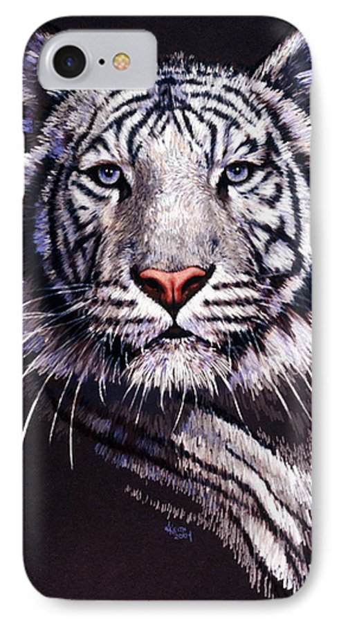 Tiger IPhone 7 Case featuring the drawing Sorcerer by Barbara Keith