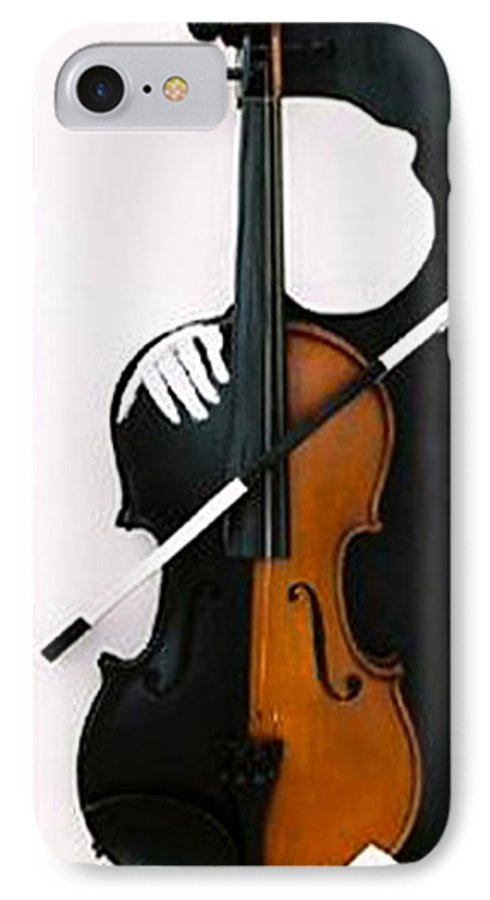 Violin IPhone 7 Case featuring the sculpture Soul Of Music by Steve Karol