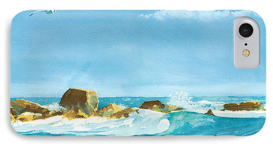 Waves IPhone 7 Case featuring the painting Sound Of Surf by Ray Cole